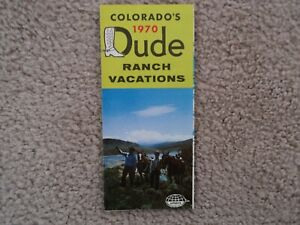 1970 Dude Ranch Colorado Vacation Pamphlet Brochure - No markings - Perfect