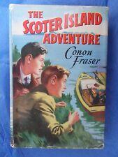 THE SCOTER ISLAND ADVENTURE Conon Fraser vintage hardback