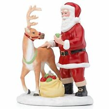 Lenox 2015 Santa's Reindeer Figurine Annual Apple Treats Christmas New In Box