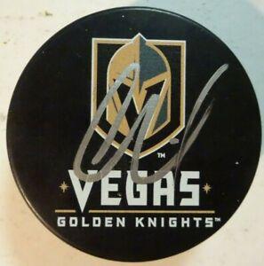 Autographed OSCAR LINDBERG Signed Las Vegas Golden Knights Hockey Puck