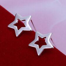 925 Sterling Silver Star Stud Earrings L26