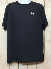 Under armour Light Wieght Mens Black Tee with Logo on Front Size L Nwot (9-B)