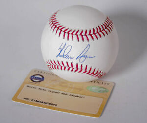 Steiner SPORTS MLB Texas Guardabosques Nolan Ryan Firmado Béisbol With Hof