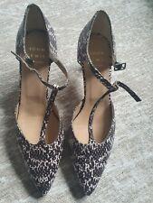 John Lewis Womens Shoes Snake pattern Leather. Size 40/UK 6.5/7 BNWOB. Free Del.