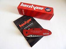 Red Farmall Folding Pocket Knife made by Kershaw