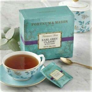 Fortnum and Mason UK Earl Grey Classic Tea 50 Foil Wrapped Tea Bags - EXP 2/23