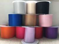 "Satin Sash Ribbon 100mm 4 inch 4""  wide 18 colours Hen Nights Weddings Parties"