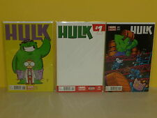 HULK #1 - 3 Variant Set - BABY Animal BLANK - Chris Samnee SKOTTIE YOUNG  Marvel