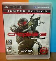 Crysis 3 Hunter Edition   - Sony PlayStation 3 PS3 Game COMPLETE w/ Manual