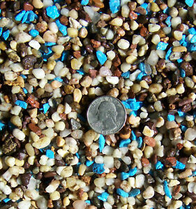 """Fish Tank Gravel 1/8""""-1/4"""" river rock and blue 2lbs"""