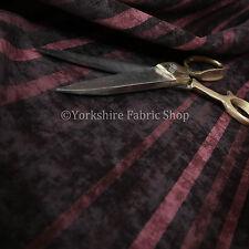 Design Vertical Striped Pattern Burgundy Soft Chenille Velvet Upholstery Fabrics