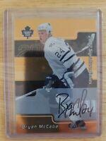2002-03 In The Game SIGNATURE SERIES AUTO Bryan McCabe Toronto Maple Leafs #146
