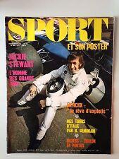 SPORT ET SON POSTER N°15 19 MAI 1971 JACKIE STEWART L'HOMME DES GRANDS PRIX