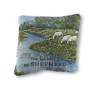 Woven Tapestry The Lord is My Shepherd Decorative Throw Pillow 17in.
