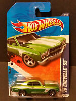2011 Hot Wheels #102 Muscle Mania 2/10 - '70 Chevelle SS - Green
