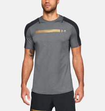 Under Armour Ua Men's Perpetual Fitted Short Sleeve T-Shirt - Grey - New