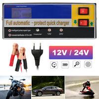 Cargador De Batería Inteligente Lead-acid 12/24V Para Coche Auto Furgoneta Moto