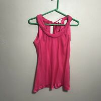 Banana Republic Womens Pink 100% Silk Sleeveless Blouse Top Shirt Sz XS Career