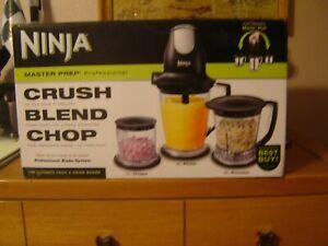Ninja Master Prep QB1004 30 Food Processor Mixer Blender Chopper Set Black