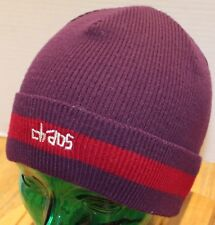 NWOT CHAOS ACRYLIC BEANIE BURGUNDY & RED OSFM MADE IN CANADA NEVER WORN