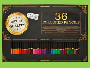 Buntstifte Set 36 Farben Künstler malen zeichnen Malstifte Farbstifte fein