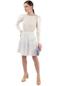 RRP€460 ISABEL MARANT Flare Skirt Size 34 / XS Silk Blend Textured Elastic Waist