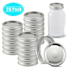 20 Sets Screw Canning Jar Lids Bands and Rings Regular Mouth for Mason Jars