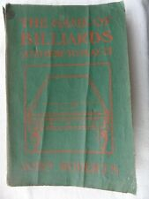 New listing 1919 The GAME OF BILLIARDS & HOW TO PLAY IT. John Roberts Illustrated