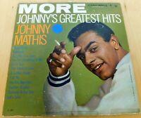 Johnny Mathis More Greatest Hits Columbia CL 1344 LP Vinyl Record Album