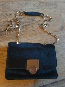 Hobbs Women/'s Bag Pimlico Across Body Mini Bag Black Calf hair New