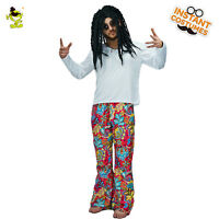 Mens Hippie Costume Adult 60's 70's Costumes Halloween Fancy Dress