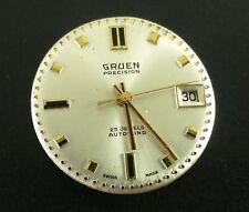 Vintage Gruen Precision Wrist Watch Movement 25 Jewels Auto Wind NOT WORKING