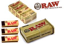 3 RAW TIPS 1 RAW CLASSIC TOBACCO TIN 4 RAW ORGANIC ROLLS ROLLING SMOKING PAPER