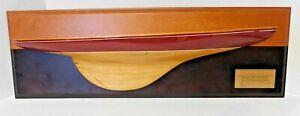1901 Columbia half hull model by Nathanial Herreshoff designer