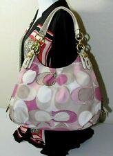 Coach Madison Maggie Mia Scarf Print Canvas Hobo Shoulder Handbag
