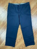 Dockers D2 Men's Size 38x32 Navy Blue Casual Career Dress Pants Relaxed Leg