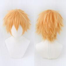 Anime Chainsaw Man Denji Golden Short Hair Full Wig Harajuku Cosplay Costume