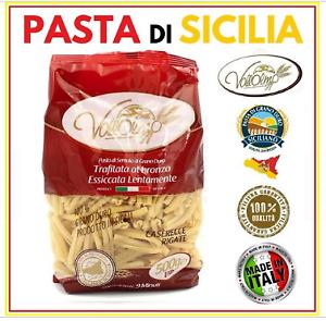 PASTA CASERECCE RIGATE SEMOLA DI GRANO DURO 100% SICILIANO 500 GR. VALLOLMO (PA)