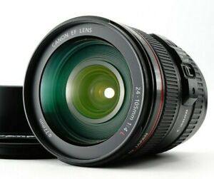 Near MINT Canon EF 24-105mm f/4 IS USM Standart Zoom w/HOOD Lens From JAPAN