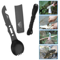 Spork Outdoor Camping Cutlery Fork Spoon Knife Whistle Knife Travel Tableware