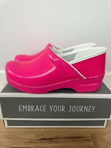 Dansko Professional Neon Pink Clogs Size 40 (9.5-10)
