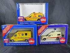 3 x SIKU Super 2 x Nr. 1931 und Nr. 2020 Ambulanz Konvolut alle sind OVP