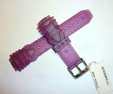 TechnoMarine Gel Silicone Plastic Watch Strap Band 17MM Clear Purple 1008 DTSC04