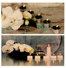 LED beleuchtete Wandbilder Orchidee Bild je 30cm X 60cm Kerzenlicht