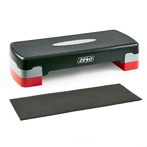 AEROBIC STEPPER CARDIO FITNESS STEP BOARD 2 TIER HOME GYM EXERCISE TRAINING MAT