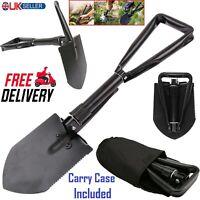 Compact Folding Shovel Emergency Portable Army Spade For Camping/Garden/Snow New