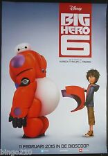 BIG HERO 6 ORIGINAL 2014 DUTCH 1 SHEET POSTER BAYMAX  RYAN POTTER MARVEL