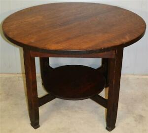 19653 Mission Oak 40 Inch Round Table by Stickley