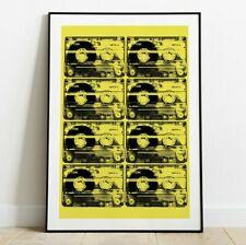 Tape Cassette Poster, Pop Art Cassette Print, Wall Art, Retro Print