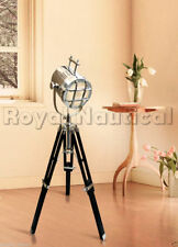 Royal Nautical Spot Light Floor/Table Lamp Wooden Tripod  Search  Lighting